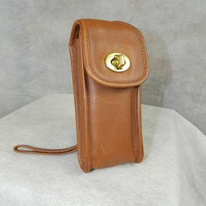 COACH Vintage Sunglasses Case Belt Wristlet Br Tan